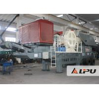Wholesale Wheel Type Mobile Crushing Plant and Screening Station , Potable Jaw Crusher in Quarry from china suppliers