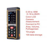 Wholesale Laser distance meter Range finder outdoor 80m W-camera rechargeable battery Color LCD laser tape measure Area/volume from china suppliers