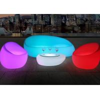 Wholesale Illuminated Couch Living Room Modern Sofa Set With Led Light , IR Remote Control from china suppliers