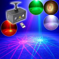 Wholesale 8 Gobos Red+green Mini Laser Lights Projector with RGB LED (2 holes) from china suppliers