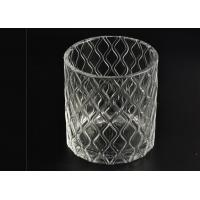 Wholesale Wax Cylinder Frosted Glass Candle Holders For Wedding , Glass Candle Cups from china suppliers