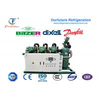 Wholesale Fresh beef cooling storage R404a Bitzer brand screw type parallel compressor racks from china suppliers