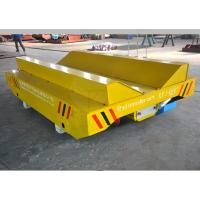 10t plastic coils handling railway mounted rail transfer cart with V-frame production line