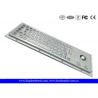Wholesale Ruggedized Panel Mount Metal Keyboard With Trackball / Stainless Steel Keyboard from china suppliers