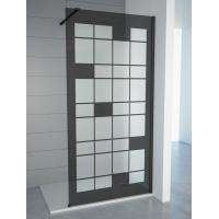 Buy cheap Tempered Smoke Glass with Matt Walkin Shower Enclosures with adjustable bar For Baths , Bathroom Shower Cabinets from wholesalers