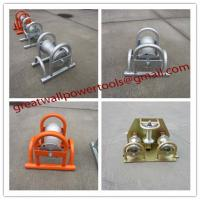 Buy cheap Cable roller, galvanized,Cable roller with ground plate,Cable Guides rollers from wholesalers