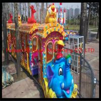 Quality Elephant theme big amusement park rides kiddy train for sale / amusement park electric trains for sale