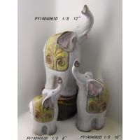 Wholesale Animal Elephants Terracotta Garden Ornaments For Outdoor / Indoor from china suppliers
