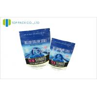 Wholesale Blue Printing Protein Powder Stand Up Pouch Packaging With Ziplock from china suppliers