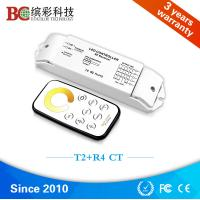 Wholesale T2+R4 DC 12V - 24V 4 channels color tempeture control with RF touch remote CCT led controller from china suppliers