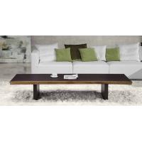 Wholesale Elegant  Wenge Wooden Coffee Table Black  Aluminium Base Cafe Tables from china suppliers