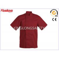 Wholesale Fashion Comfortable Polyester Cotton Chef Cook Uniform Red Chef Jacket from china suppliers
