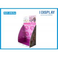 Wholesale Cardboard Display Stand With Hooks , Hook Counter Display Double Wall from china suppliers