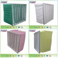 Wholesale Synthetic Filter Media Non-Woven 6 Pockets HVAC Air Filters , High Capacity Air Conditioner Filter Replacement from china suppliers