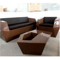 Wholesale 2018 Creative design black color outdoor leisure FRP sofa set from china suppliers