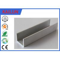 Wholesale 6063 Aluminum U Shaped Channel , Anodized Aluminum U Channel Guide Railing 20x 20 Mm from china suppliers