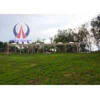 Elasticity PVDF Sail Garden Sun Shade Canopy For Golf Course Heavy Rain Resistence