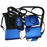 Wholesale Blue Leather Camera Pouches , Shoulder Digital Camera Carrying Pouches from china suppliers