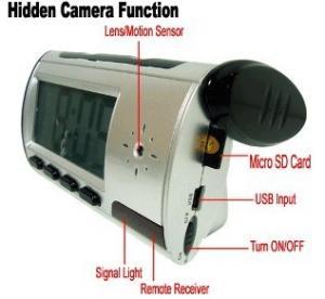 Wholesale Home Security Mini Alarm Clock DVR Spy Hidden Surveillance Camera Audio Video Recorder from china suppliers