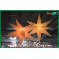 Buy cheap Nylon Advertising LED Star Balloon Outdoor Inflatable Decorations WIth CE / UL Blower from wholesalers