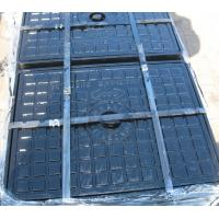 Wholesale Cast iron manhole cover set, square from china suppliers