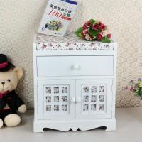 Wholesale Wood Standing Handmade Weave Storage Basket Cabinet Sideboard from china suppliers