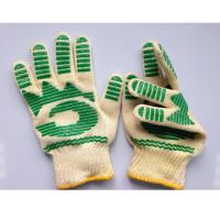 Wholesale Home Heat Resistant BBQ Gloves Nomex With Green Silicone Coated Barbecue Mitts from china suppliers