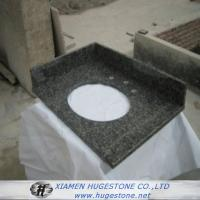 Wholesale Dark Grey G654 Granite Sink Countertops, Bathroom Dark Grey Sink Countertops from china suppliers