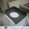 Buy cheap Dark Grey G654 Granite Sink Countertops, Bathroom Dark Grey Sink Countertops from wholesalers