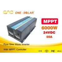 Wholesale Home usage 12v 24v panel Solar Powered Inverter 6000w with CE and FCC from china suppliers