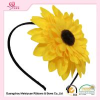 Wholesale Sweet Yellow Daisy baby Flower Girl Headband 10cm Size OEM & ODM Accepted from china suppliers