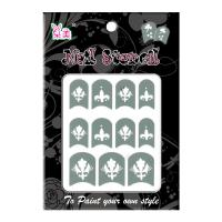 Wholesale Dagger printing Nail Stencils Easily change and keep everyday fashion from china suppliers