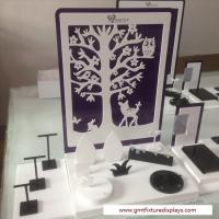 Buy cheap CounterJewelry Display Set Customized  Design White & Black Acrylic Stand  for Showcase from wholesalers