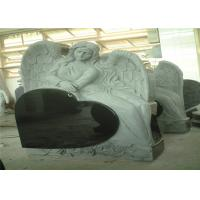 Wholesale Heart Shaped Engraving Granite Headstones, Carved Angel Custom Memorial Stones from china suppliers