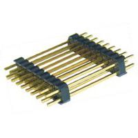 Wholesale 2.54mm dual rows pcb header,dual rows,180° ,2.54mm height,gold plated from china suppliers