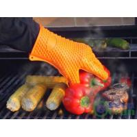 Wholesale Oven BBQ Grill Cooking Dishwashing and Pot Holder Heat Resistant Silicone Glove Mitt from china suppliers