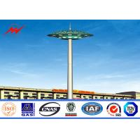 Wholesale GR50 Steel 12 Sides Stadium Light High Mast Tower 10nos  200W HPS Lights With Rasing Sytem Maintanence from china suppliers