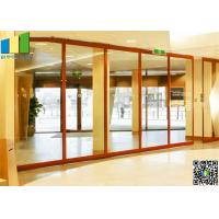Wholesale Sliding Aluminum Glass Partitions Wall 10 mm Glass for Home from china suppliers