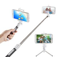 Quality Wireless Bluetooth Monopod Selfie Stick Self Portrait Video Built-in Remote Shutter Button for sale