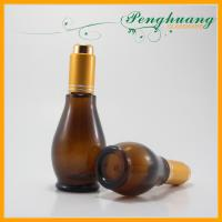 Wholesale Mini 10ml Frosty Calabash Glass Essential Oil Bottles with Gold Pump from china suppliers