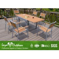 Wholesale Expandable Wood Dining Table Sets Patio Garden Furniture Nature Color Light Weight from china suppliers