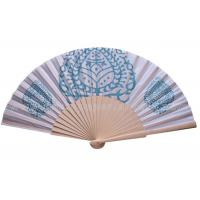 Wholesale Pure And Fresh Style Transfer Printing Wooden Hand Fan For Advertising , Gift , Souvenirs Fine Art from china suppliers
