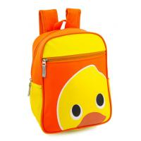 Wholesale Zipper Pocket Girls School Backpacks For Kids Yellow Duck Pattern Customize from china suppliers