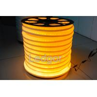Wholesale 12V 24v 110v 220v UV proof waterproof Yellow Led Neon Flex Rope from china suppliers