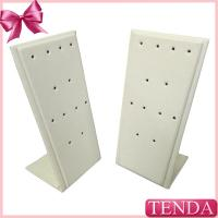 Wholesale White Black Leather Metal Wooden Earring Jewellery Display Stands for Jewelry from china suppliers