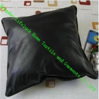 Buy cheap Black PU Leather Modern Throw Pillows with PP Cotton 42x42cm , Anti-Static from wholesalers