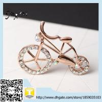 Wholesale Wholesale Lovely Gold Bicycle Brooch Pins Cute Womens Zinc Alloy Bike Brooches from china suppliers