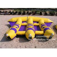 Wholesale Towable 6 Person Tarpaulin PVC Inflatable Boat , Flying Fish Banana Boat from china suppliers