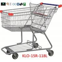 Wholesale 180L Advertisement Metal Grocery Store Shopping Cart With Wheels 1080x640x1075mm from china suppliers