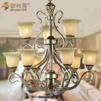 Wholesale Silver 9 Light Wrought Iron Lighting Fixtures with E27 Incandescent / LED Blub from china suppliers